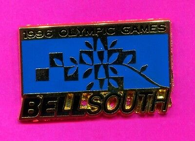1996 Olympic Bellsouth Pin Official Sponsor Pin Blue Background Pin
