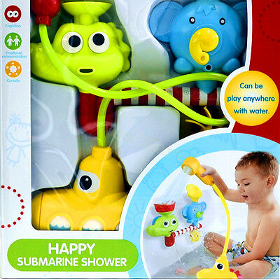 New Kid Battery Operated Bathing Toy Water Pump Hand Shower Submarine Spray