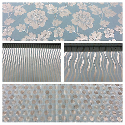 Soft Duckegg Blue Turquoise Damask Stripe Damask Curtain Decor Fabric Upholstery