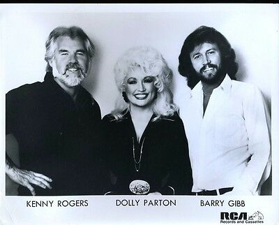kenny rogers dolly parton barry gibb  Orig 8X10 PHOTO X2144