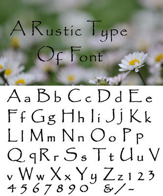 Alphabet Letter stencil #146  A - Z & numbers  2, 3, 4, 5 or 6cm sizes FREE POST