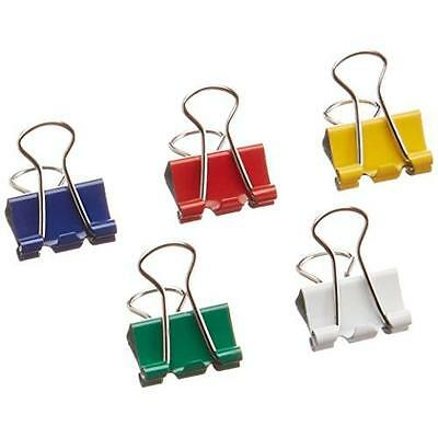 Business Source Mini Binder Clips - Pack of 100 - Assorted Colors (65360) New
