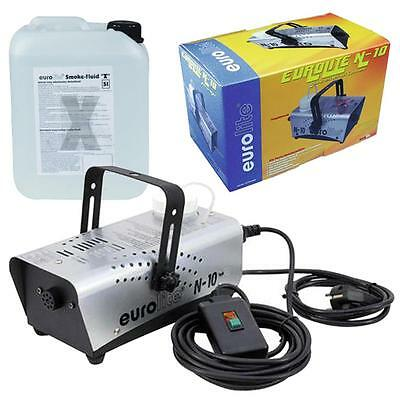 500W Nebelmaschine Party Disco Club DJ Nebler N-10 + Nebelfluid Smoke Fluid X 5l