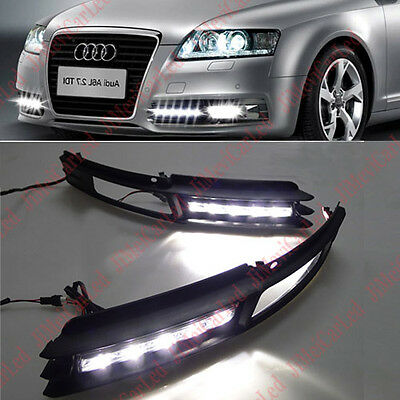 For Direct Fit AUDI A6 A6L 2009-2011 LED DRL Daytime Running Light