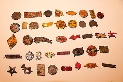 Lot of 40 Vintage Antique Tobacco Tags Tobacciana Brown Mule Yellow Jacket Lot4