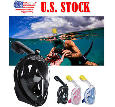 Full Face Snorkelling Mask Scuba Diving Swimming Snorkel Breather Pipe for GoPro