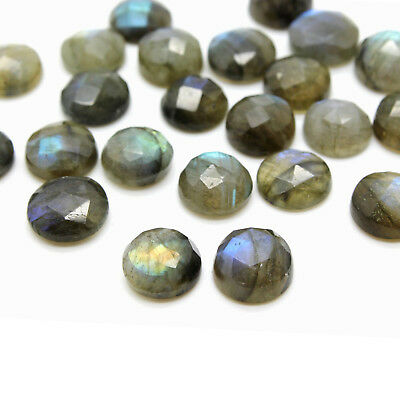 Natural Labradorite Round Cabochon Semiprecious Gemstone Wholesale Custom Size