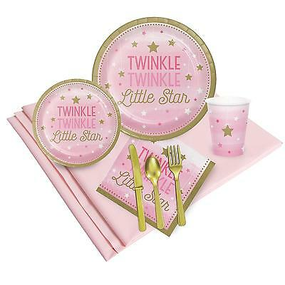 Twinkle Twinkle Little Star Pink 16 Guest Party Pack