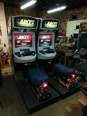 Double Midway ARCTIC THUNDER Arcade Game linked together working 100%