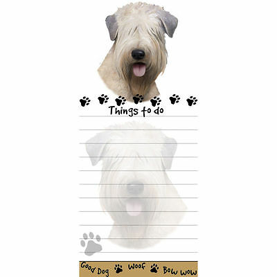 Soft Coated Wheaten Terrier Magnetic Post It Dog Breed Stationery Notepad