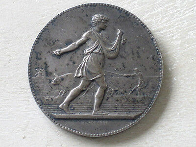 French Silver Medal by J Lagrange Agricultural Medal Somme 1929