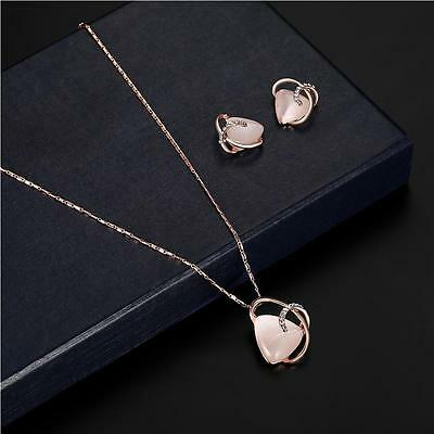 NEW Jewelry crystal necklace earring rose gold jewelry costume accessories GW