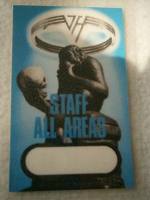 Van Halen - STAFF ACCESS ALL AREAS Laminated Backstage Tour Pass - Date Unknown