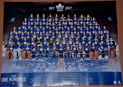 The One Hundred 100 Greatest Toronto Maple Leafs Poster NEW! - great collectible