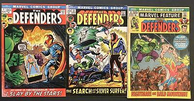 The Defenders Lot x3 G/VG #1(1st Solo Series), #2 (Early), Marvel Feature #2