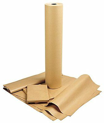 Kraft Brown Wrapping Paper - 600mm x 240m. 1 Roll. Strong Heavy Duty Plain
