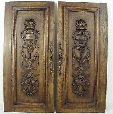 pair French antique door cabinet panel style LOUIS XVI