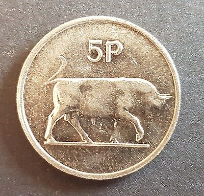 Old Irish Ireland Large 5p Five Pence Coin Available Dates 1969 - 1990