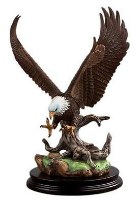 Andrea by Sadek Hand Painted Ceramic Open Wing Eagle Bird Figurine Statue
