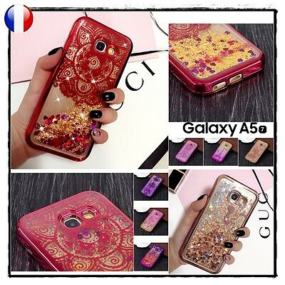 Etui housse coque Transparente Paillettes Case Cover Samsung Galaxy A5 2017