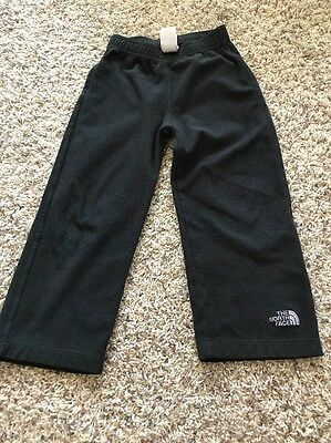 The North Face Boys Toddler Black Fleece Bottoms Sweats Pants Size 4T