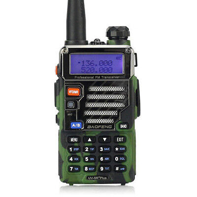 BaoFeng UV-5R Plus Camouflage Dual Band 136-174/400-520MHz Two Way Radio UK G1Q4