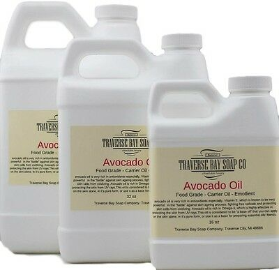 Avocado Oil, Organic, 100% pure, Soap making supplies, cold pressed, carrier oil