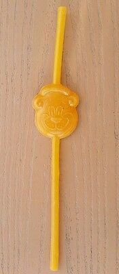 VTG 70s or 80s A&W Root Beer-The Great Root Bear Straw-Orange GUC-Love Root Beer