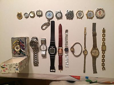 Lot of 20 Assorted Watches AS IS Parts or Repair