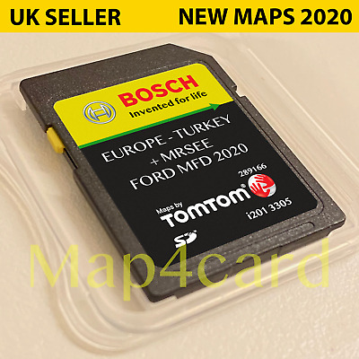 FORD MFD SD CARD NAVIGATION SAT NAV LATEST MAP 2017 - 2018 Europe & UK