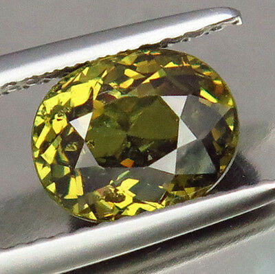 2.15 cts Natural Oval-cut Yellowish-Green to Red VS Demantoid Garnet (Africa)