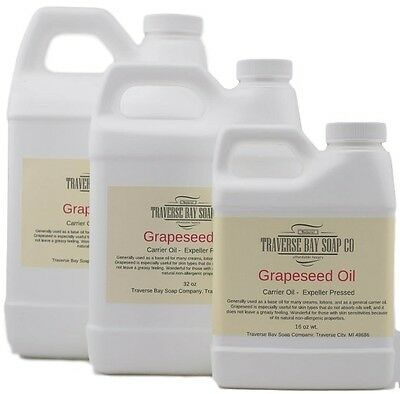 Grapeseed Oil, 100% pure, Soap making supplies, massage oils, bath, body.
