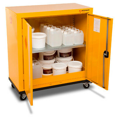 Armorgard SafeStor HMC2 Hazardous Mobile Cupboard 900 x 460 x 1040 Chemical Unit