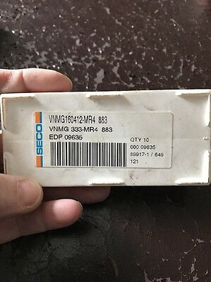 VNMG220408-MR4-203 TP200 Seco Carbide Insert QTY:10 VNMG432-MR4-203 LOC1166A