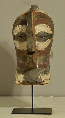 African Mask Songye Male Brown White Congo Sonyge Mask