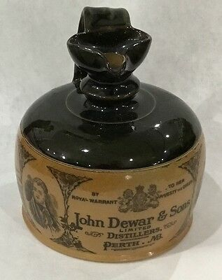 JOHN DEWAR & SONS PERTH NB Doulton Lambeth England  Whiskey Jug c1890