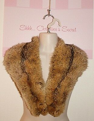 VINTAGE Genuine  Fox Fur Satin Lined Long Collar / Stole *VERY GOOD COND.