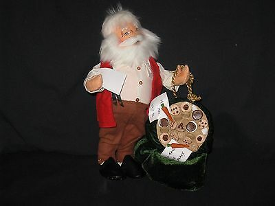 Annalee: Casual Santa with Sack of Toys and Cookies (Vintage 2004)