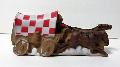 Vintage Covered Wagon Ralston Purina Wagon Squeeze Toy Squeaker 1975