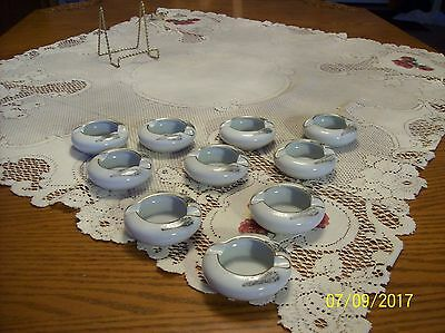 Fukagawa Arita Vtg Porcelain China Handpainted Landscape Pattern 10 Ashtrays