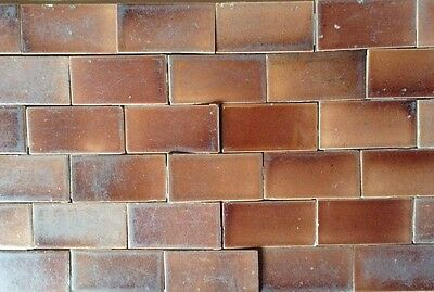 Set Of Vintage Victorian ANTIQUE FIREPLACE Hearth Tile Tiles Deep Caramel Brown