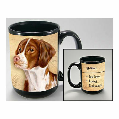 Brittany Spaniel Faithful Friends Dog Breed 15oz Coffee Mug Cup