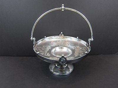 Antique Reed & Barton Silver Bowl 2120 Knights & Cherubs Pedestal With Handle