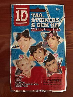 One Direction Dog Tag, Sticker, and Gem Kit