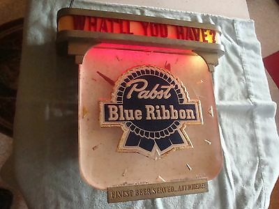 Old Vintage Pabst Beer Price Bros. ROG Clock Milwaukee WI RPG Lighted Sign PBR