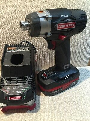 Craftsman Lithium-Ion 19.2 Volt C3 Impact Driver Kit W/ Battery 939413 NEW