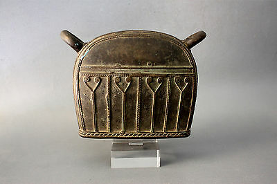 6#Antique Bronze Elephant Bell With Clear Stand Beautiful Rare Cheap Don't Miss