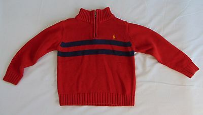 Authentic Ralph Lauren Red & Blue Boys Sweater Size 5         (A7199)