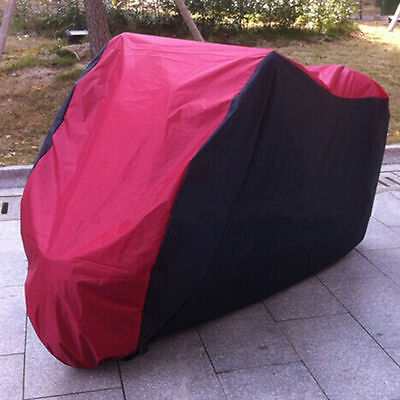Motorcycle Waterproof XL Outdoor Motor Bike Scooter Dust Rain Cover Black Red