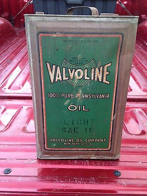 Vintage 5 Gallon Valvoline Oil Company Can with Original Patina